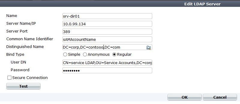 Login to the Fortigate firewall with Active Directory accounts