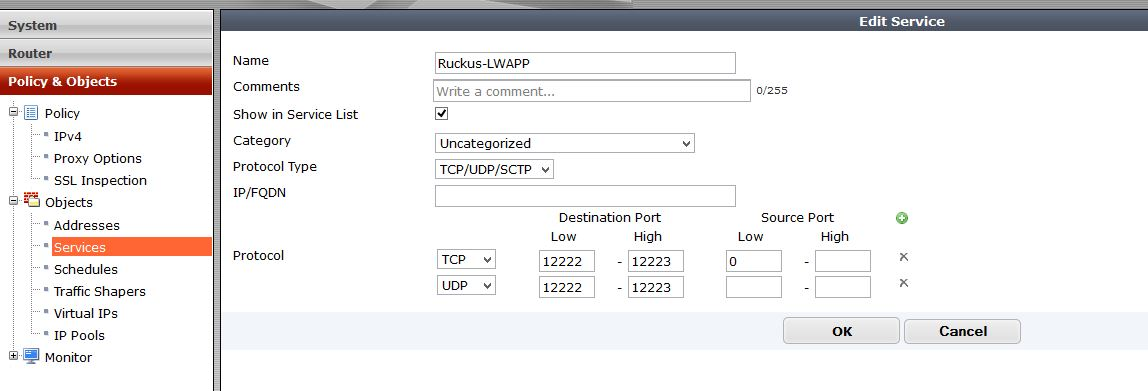 Fortigate and Ruckus AP remote registration issues across a