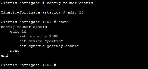 Fortigate – How to create a default route with a dynamic
