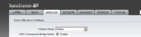 Passing VLAN tags through a Ubiquiti NanoStation M5