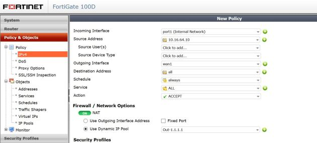 How to Change Outbound NAT IP with IP Pools in FortiGate